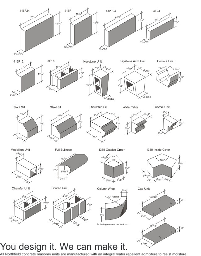 U Shaped Concrete Block