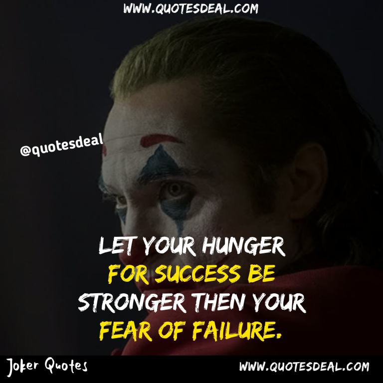 Let your hunger for success
