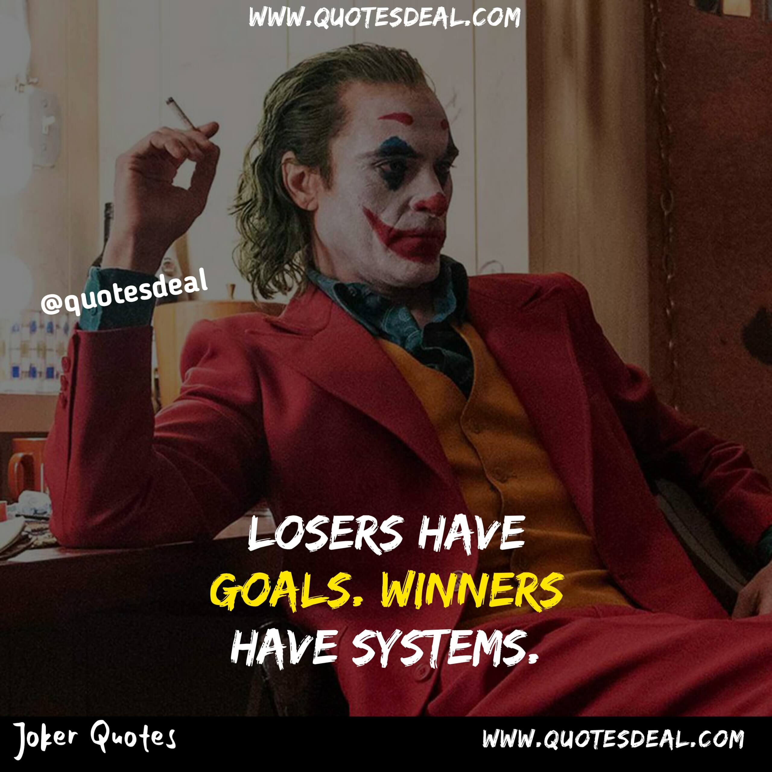 Losers have goals