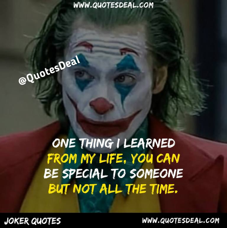 One thing i learned from my life