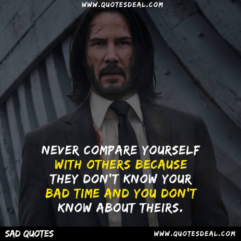 Never compare yourself