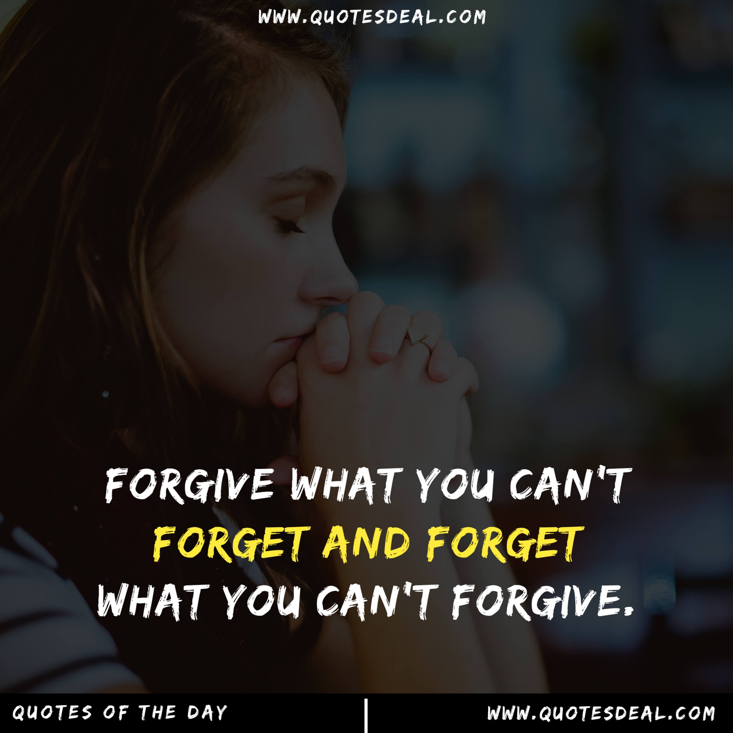 Forgive what you