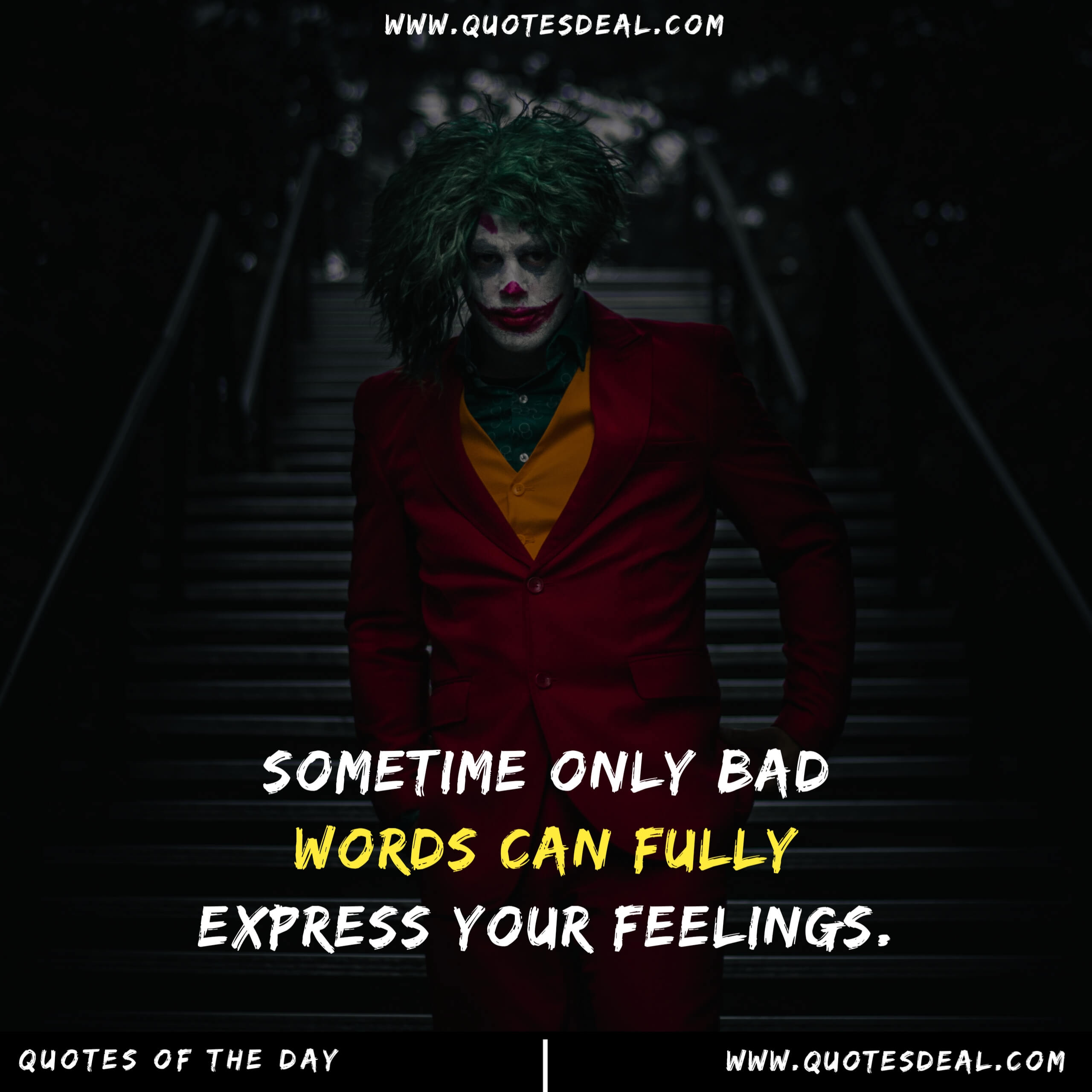 Sometime only bad words