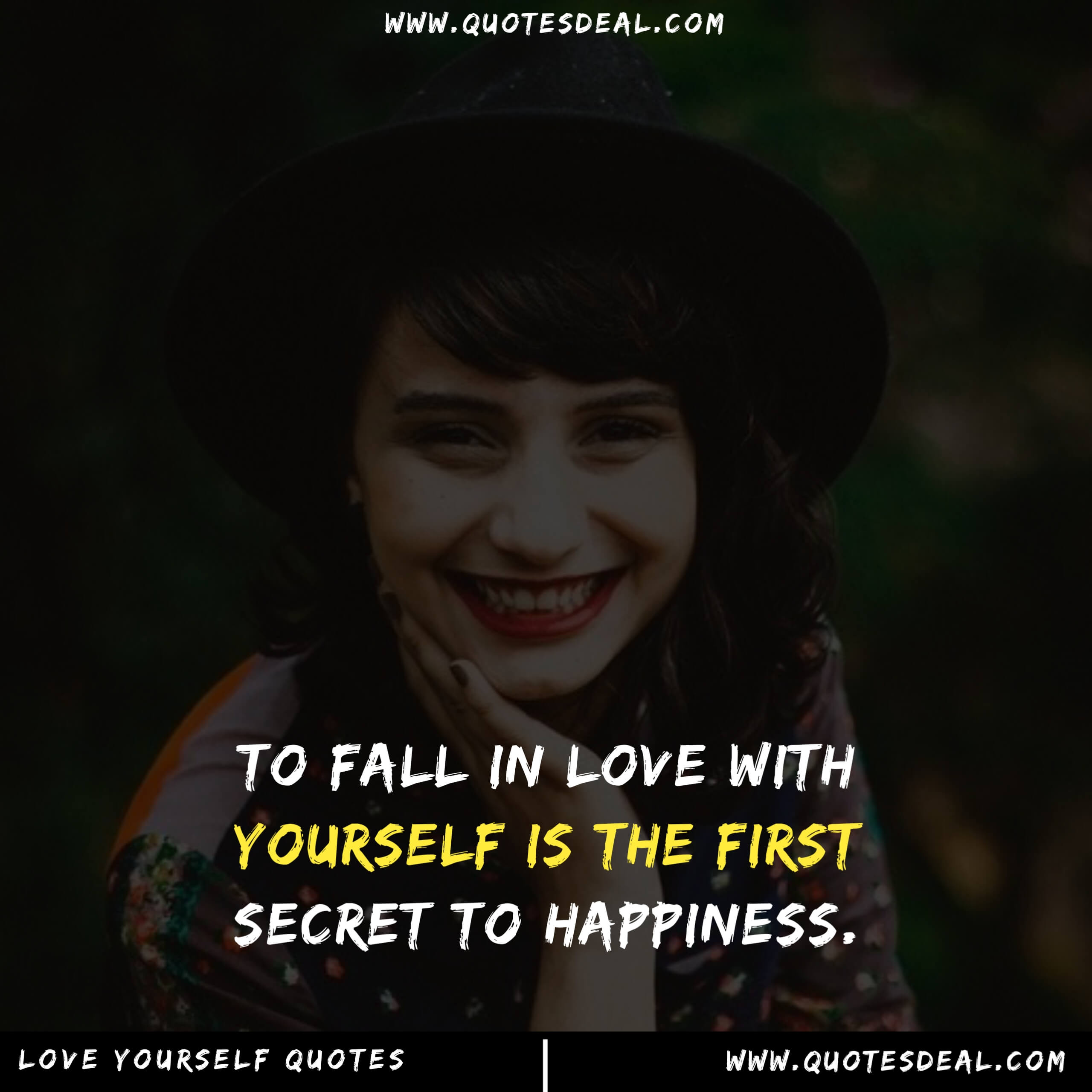 To fall in love with yourself