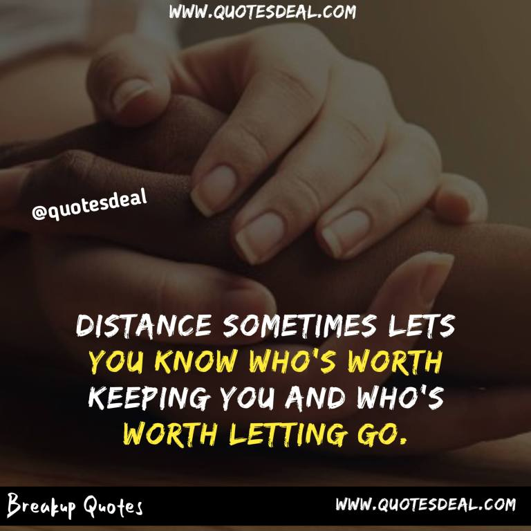 Distance sometimes lets you know