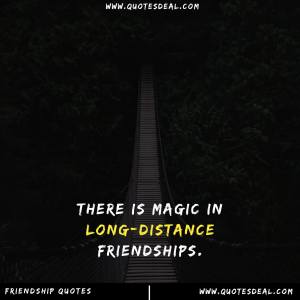 magic in long distance friendships