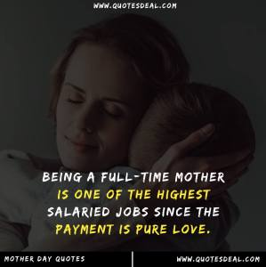 Being a full time mother
