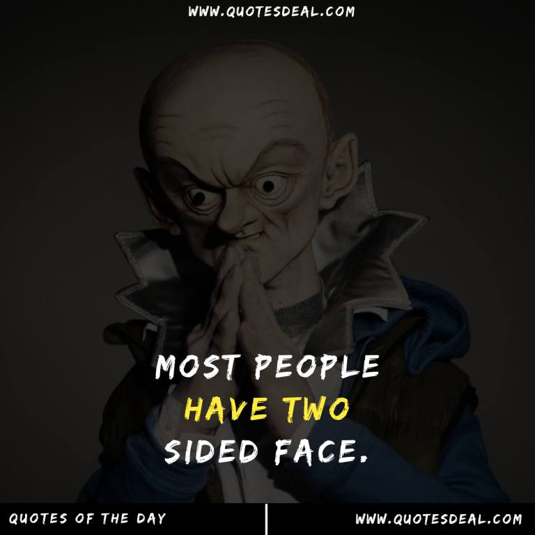 Most people have two sided face