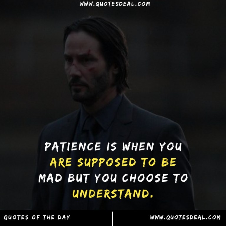 Patience is when you are