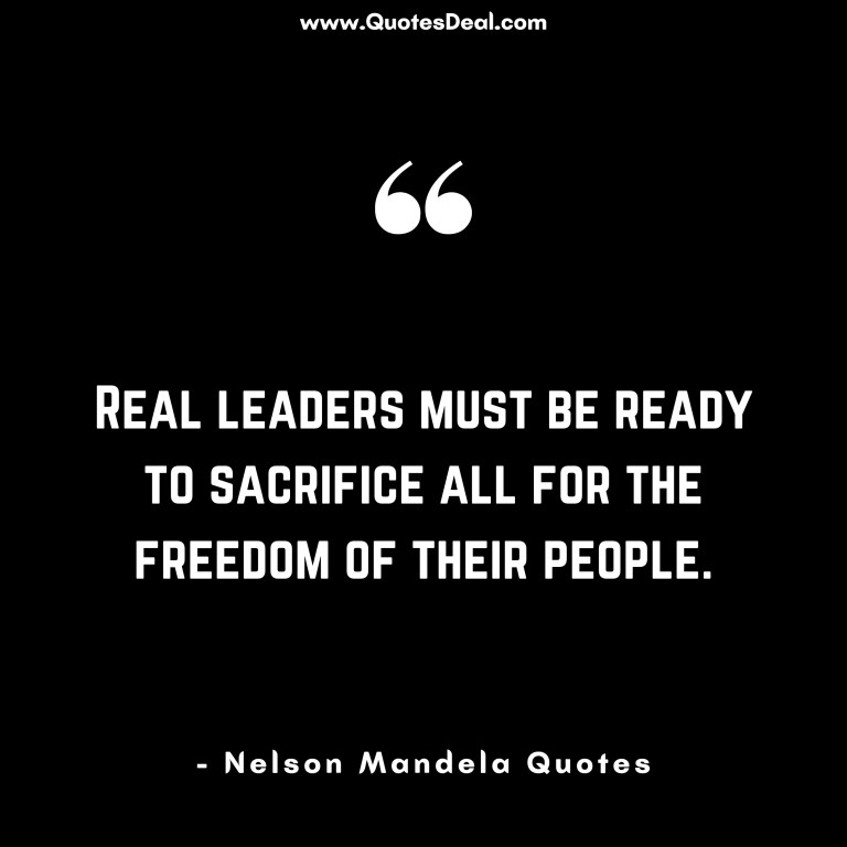Real leaders must be ready