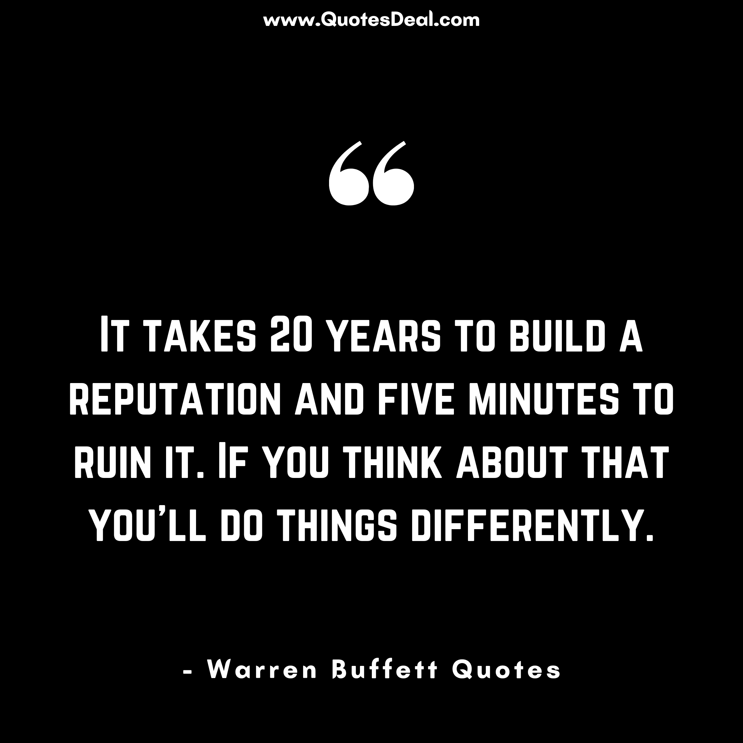 It takes 20 years to build