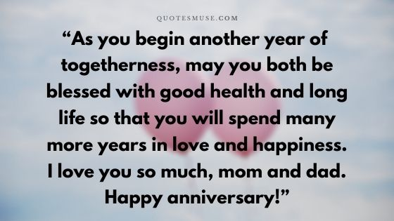50 Happy Anniversary My Parents Messages, Wishes