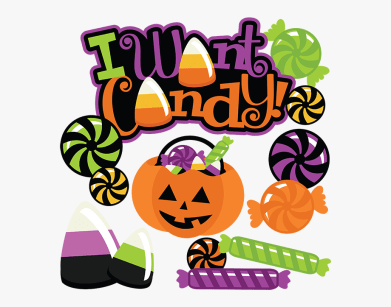 Latest Halloween candy clipart