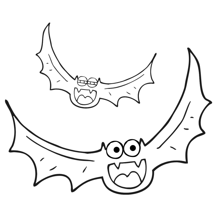 Bat Halloween black and white clipart download