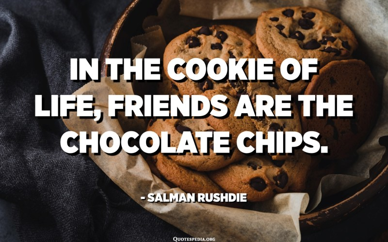 In the cookie of life, friends are the chocolate chips. - Salman Rushdie