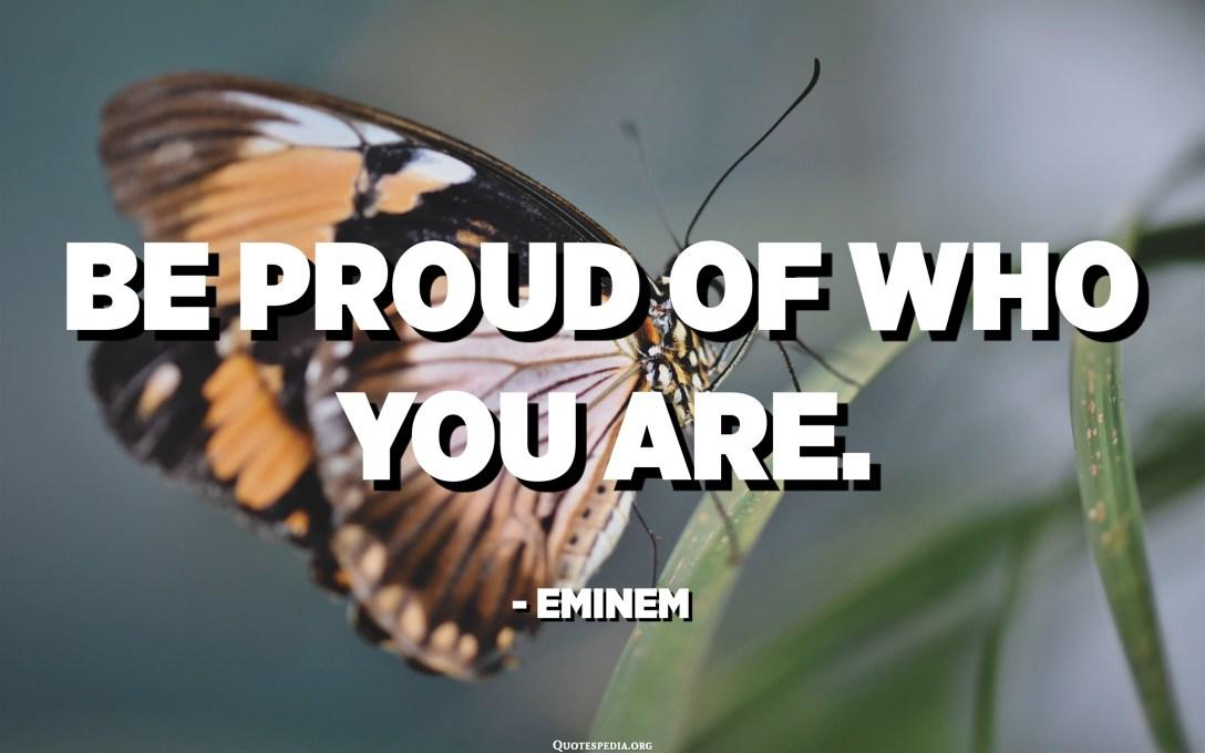 كن فخورا بما انت عليه. - ايمينيم