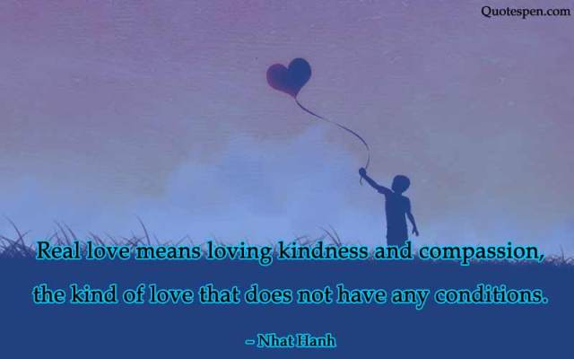 real love means loving kindness