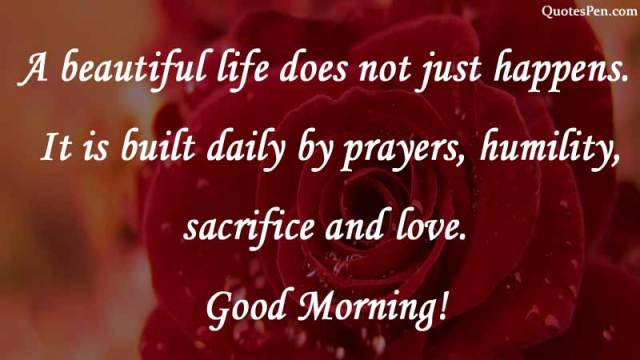 a beautiful life-morning-quote