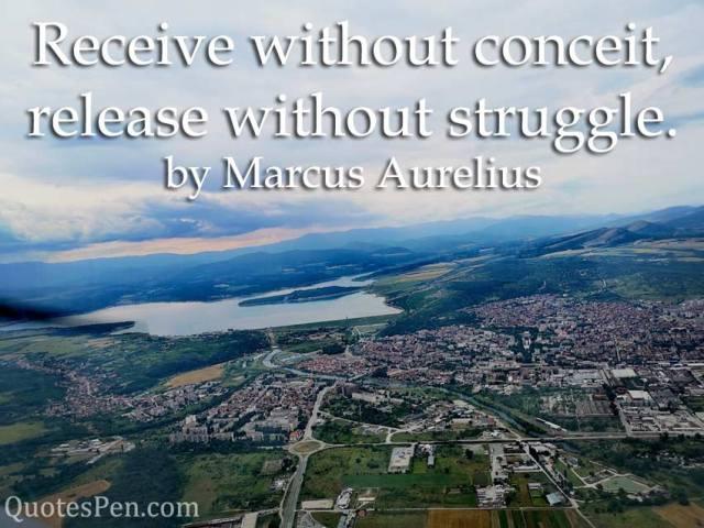 without-conceit-Marcus Aurelius Caption
