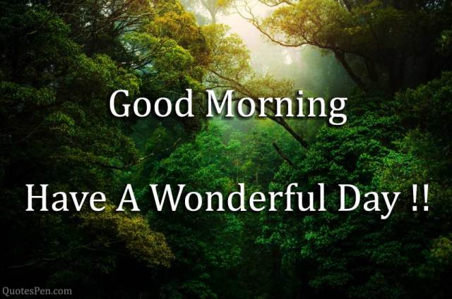 have-a-wonderful-day- Good Morning Nature