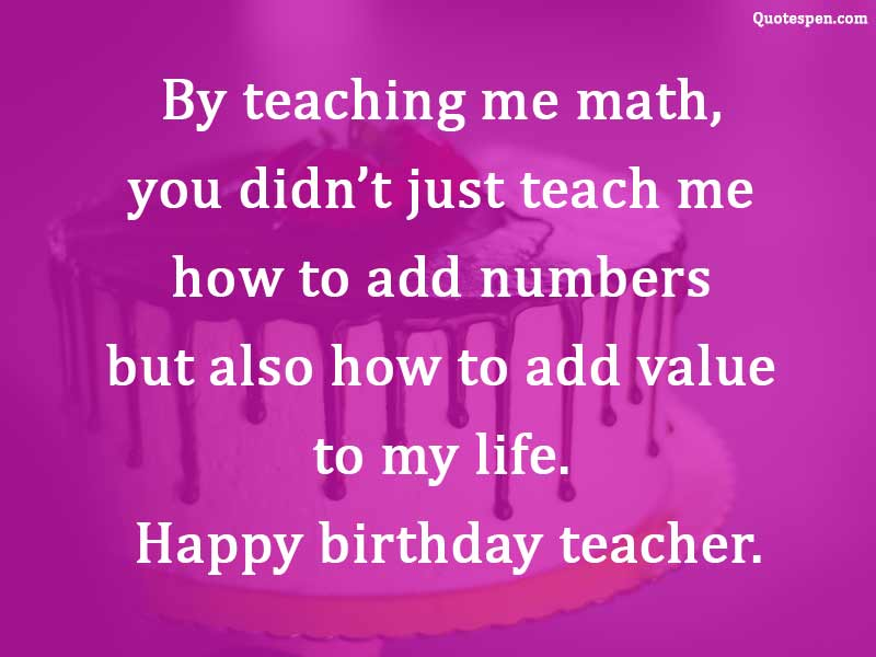 Happy Birthday Wishes Quotes For Teacher Birthday Wishes Images