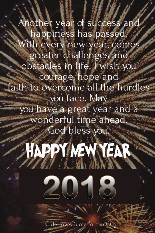 50 Happy New Year 2019 Status Images for Instagram   Happy New Year     Happy New Year 2018 Quote Pic