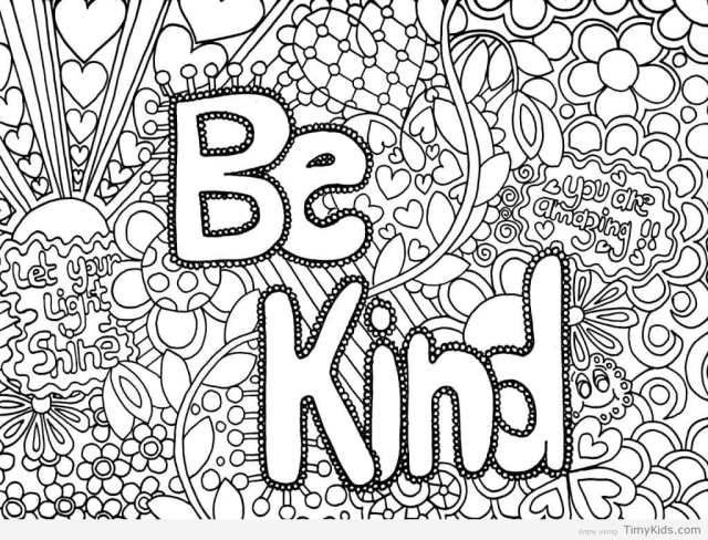 Free Printable Cute Coloring Pages for Girls - quotes that connect