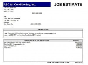 Job estimate template | Free Quotation Templates - Estimate