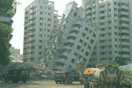 Earthquakes destruction