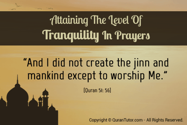 prayer and calmness