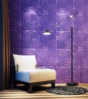 decorar-paredes-paneles caracoles-morados