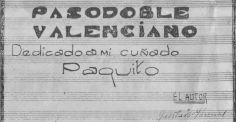 partitura original paquito chocolatero