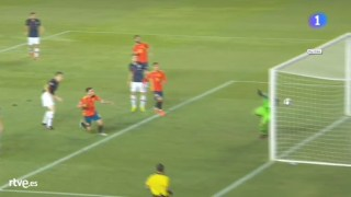 espana 1 croacia 0 gol de saul