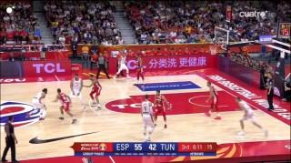 espana tunez 3er cuarto