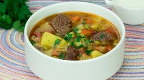 sopa ternera verduras