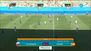 espana 1 eslovaquia 0 minut 30