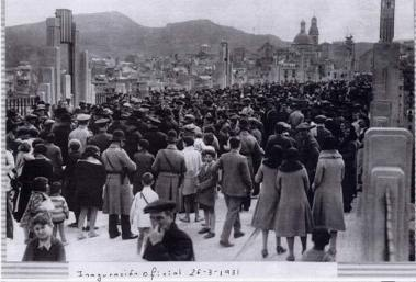 inauguracion pont de sant jordi 1931
