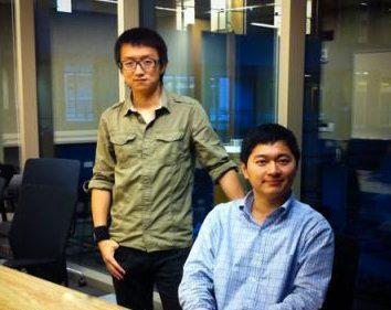 Chuan Qin, left, Xuan Bao, right