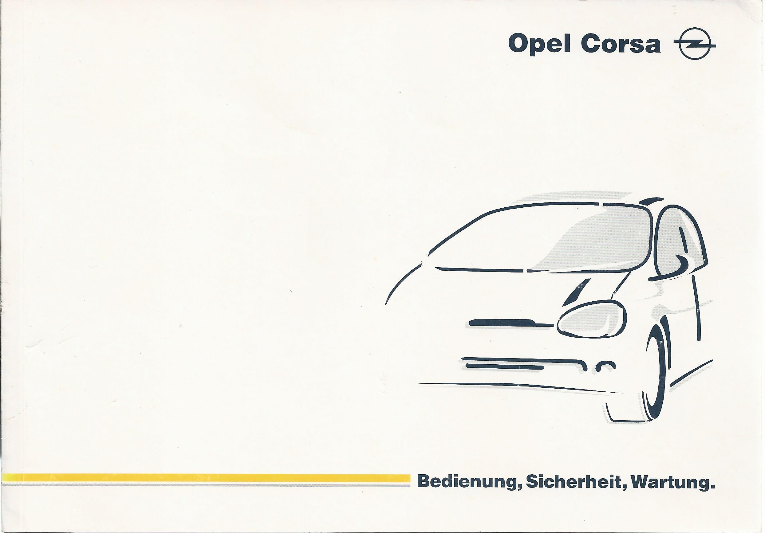 Opel Corsa B Betriebsanleitung Be Nungsanleitung
