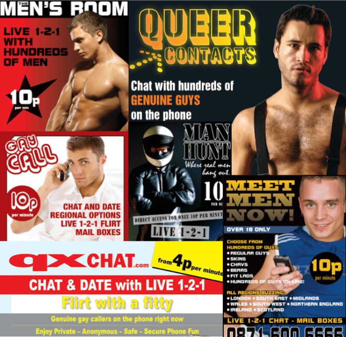 Cheap gay chat lines 10p per minute