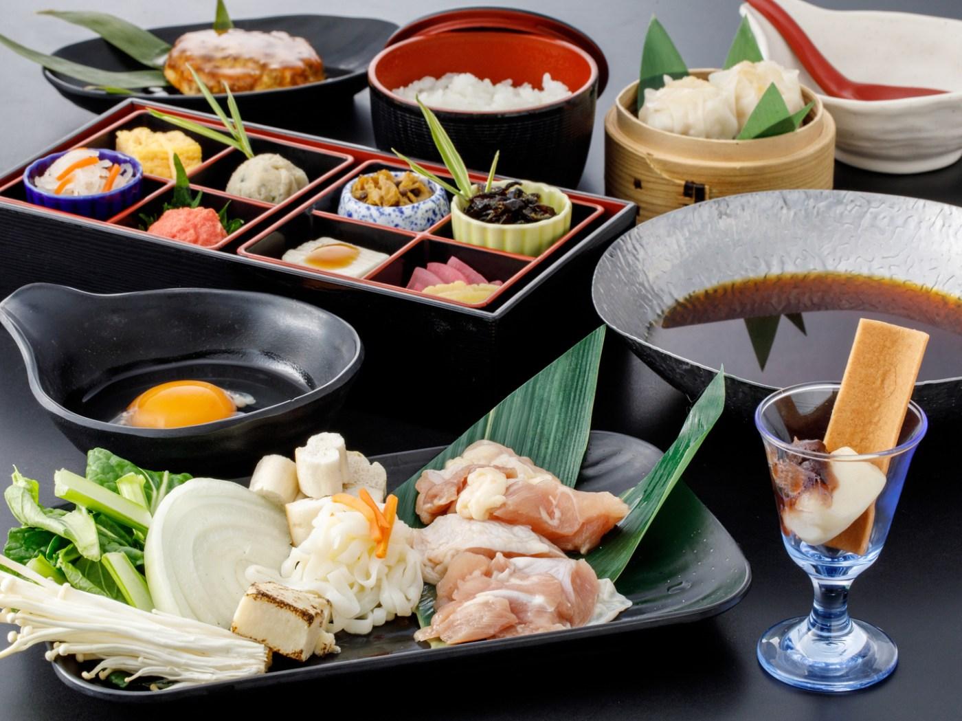 京野菜と鶏のすき焼き膳「清滝」