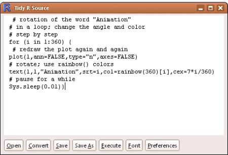 formatR: unformatted R code