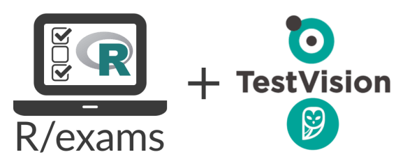 Online Tests for TestVision with R/exams