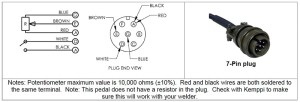 SSC Remote Foot Pedal for Kemppi TIG Welders  7pin plug  R11F 651748770702 | eBay