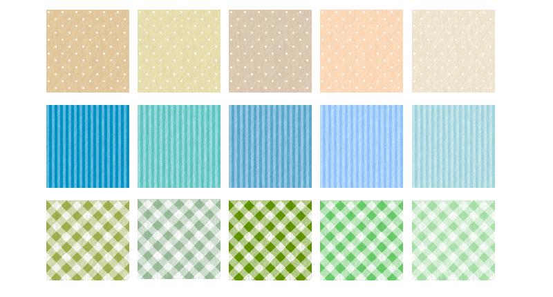 フリー素材に布の壁紙(ドット・ストライプ・チェック)を追加