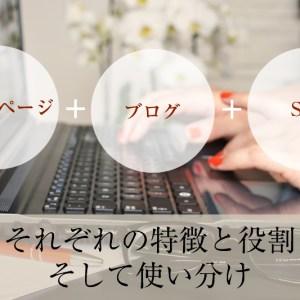 ホームページ・ブログ・SNS それぞれの特徴と役割そして使い分け