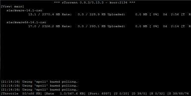 برنامج التورنت rTorrent