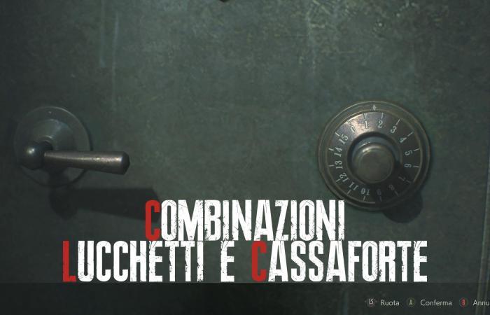 """Resident Evil 2: combinazioni lucchetti e cassaforte della demo """"1-Shot"""""""