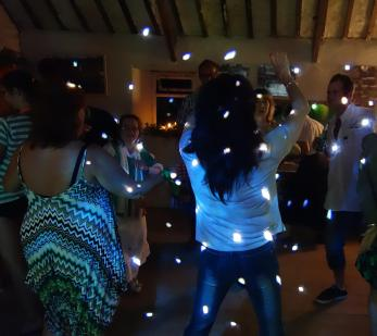 Fun family anniversary disco at a private farm in Truro, Cornwall