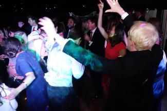 Singing & Dancing at a Private Marquee Wedding Disco, Cornwall